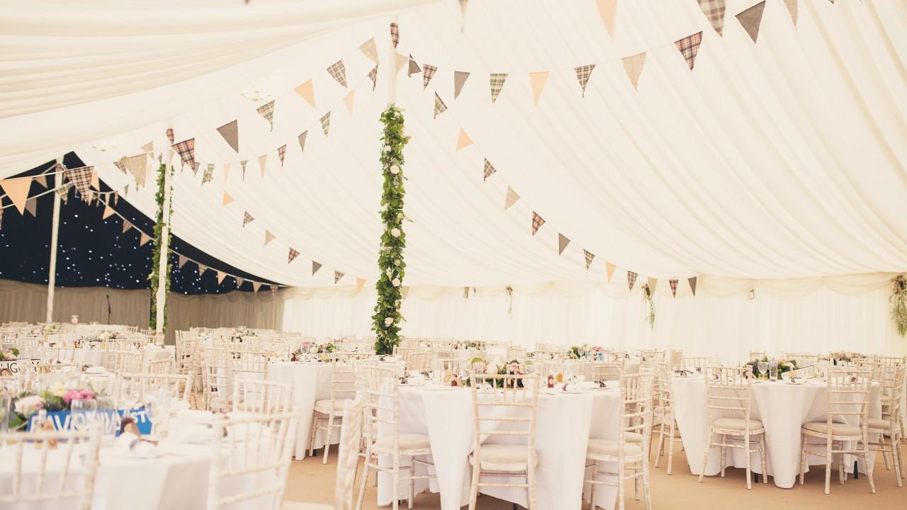 Lake district marquee wedding venue